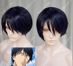 The Prince of Tennis Tokugawa Kazuya Night Blue Short Cosplay Party Wig