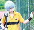 The Prince of Tennis Niou Masaharu Bluish Grey Cosplay Party Wig w/ Extension