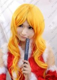 Bleach Matsumoto Rangiku Orange Gloden Curly Cosplay Party Wig