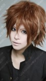 Guilty Crown Ouma Shu Brown Short Cosplay Party Wig w/ Highlight Extension