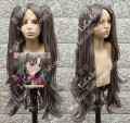 Fate/stay night Tosaka Rin Greyish Black Cosplay Party Wig w/ Ponytails