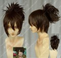 Brave10 Yukimura Sanada Styled Brown Cosplay Party Wig w/Ponytail Clip