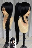 K Yatogami Kuroh Black Cosplay Party Wig w/Ponytail