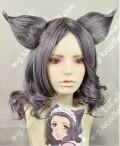 Otome Yokai Zakuro Susukihotaru Styled Gray Cosplay Party Wig w/ears