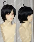 Nisemonogatari Araragi Tsukihi Short Black Cosplay Party Wig