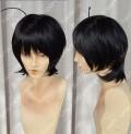 Bakemonogatari Nisemonogatari Araragi Koyomi Short Black Cosplay Party Wig