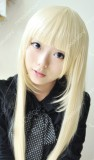 Chii Chobits 1m Pale Blonde Straight Cosplay Party Wig