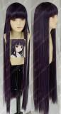 Inu x Boku SS Shirakiin Ririchiyo 1m Dark Purple Cosplay Party Wig
