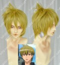 Binbougami ga! Tsuwabuki Keita Sand Blonde Colour Cosplay Party Wig