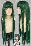 Natsuiro Kiseki Hanaki Yuka 80cm Forest Green Straight Cosplay Party Wig