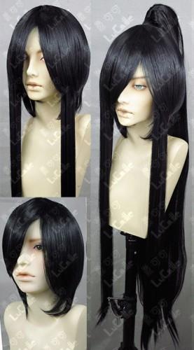 D.Gray-man Kanda Yuu 3 Pieces Samurai Cosplay Wig
