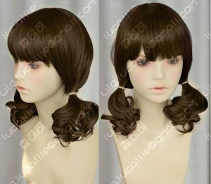 Guilty Crown Menjou Hare Styled Brown Curly Cosplay Party WIg