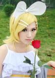 Vocaloid Kagamine Rin Golden Blonde Cosplay Wig