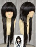Hyouka Chitanda Eru 80cm Black Lolita Cosplay Party Wig