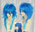 DRAMAtical Murder Aoba Blue Gradient Cosplay Party Wig
