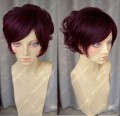 Office Lady Loita Style Raspberry Red Short Curl Style Cosplay Party Wig