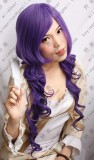Cardcaptor Sakura Tomoyo Daidouji Dark Purple 80cm Curly Cosplay Party Wig