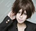 Hyouka Oreki Houtarou Short Burnt Umber Cosplay Party Wig