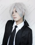 Code:Breaker Heike Masaomi Short Silvery White Cosplay Party Wig