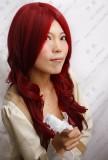 Shin Megami Tensei: Persona 3 Kirijou Mitsuru Dark Red Wavy Cosplay Wig