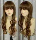 4 Color Choice Office Lady Style 80cm Wavy Daily Cosplay Party Wig