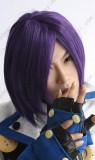 Hakuouki Hijikata Toshizo Short Purple Ver. Cosplay Wig