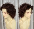 2 Color Youth Girl Style Short Brown Daily Curly Cosplay Party Wig