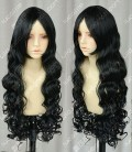 InuYasha Naraku 100cm Black Curly Party Cospaly Wig