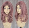 ZYR Ayamo Fashion Pink Almond To Chocolate 60cm Wavy Party Cosplay Wig