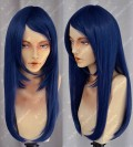 Young Girls Dark Blue 60cm Straight Lolita Cosplay Party Wig