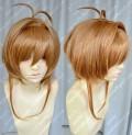 Cardcaptor Sakura Kinomoto Sakura Gloden Brown Short Style Cosplay Party Wig