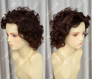 2 Color Youth Girl Office Lady Style Warm Brown Daily Curly Cosplay Party Wig