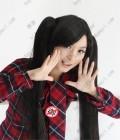 Vocaloid Zatsune Miku Black 120cm Ponytail Style Cosplay Wig