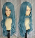 ZYR Ayamo Fashion Sea Blue 90cm Wavy Party Cosplay Wig