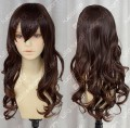3 Color Office Lady 70cm Warm Brown Curly Cosplay Wig