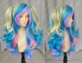 ZYR Ayamo Fashion Mix Rainbow Color Cosplay lolita Party Wig w/ Ponytails