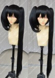 DATE A LIVE Tokisaki Kurumi Black Different Length Ponytails Style Cosplay Party Wig