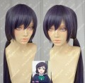 Love Live! Toujou Nozomi 100cm Purple Mix Gray Straight Ponytails Style Cosplay Party Wig