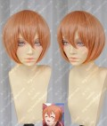 Love Live! Hoshizora Rin Orange Pink Short Cosplay Party Wig
