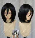 Attack on Titan Mikasa Ackerman Black Short Cosplay Party Wig