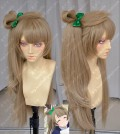 Love Live! Minami Kotori Bowknot Style Cork Color 80cm Straight Cosplay Party Wig