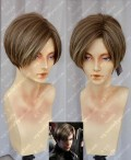 Biohazard / Resident Evil: Damnation Leon S. Kennedy Brown Mix Silver Short Cosplay Wig