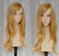 Young Girls Golden 70cm Curly Lolita Cosplay Party Wig