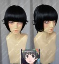 A Certain Scientific Railgun Uiharu kazari Black Style Short Cosplay Party Wig