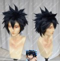 Fairy Tail Gray·Fullbuster Black Mix Blue Short Cosplay Party Wig