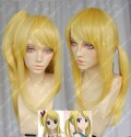 Fairy Tail Lucy Heartphilia Blonde 60cm Ponytail Style Cosplay Party Wig /w Ponytail