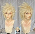 Final Fantasy VII Cloud Strife Lime Yellow Short Cosplay Party Wig