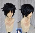 Shin Megami Tensei: Devil Survivor 2 Hiro Kageyama Black Short Cosplay Party Wig