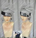 Naruto HatakeKakashi Silver Grey Short Style Cosplay Party Wig