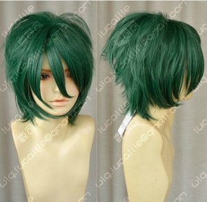 La Corda d'Oro Ryotaro Tsuchiura Summer Green Short Cosplay Party Wig